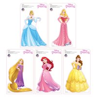 Advanced Graphics 2194 9 - 10 in. Tall Mini Disney Princesses Standees 2016 - Belle, Rapunzel, Cinderella, Aurora & Ariel Cardboard Standup, Pack of 5