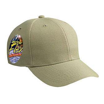 - OTTO FLEX Stretchable Wool Blend Twill 6 Panel Low Profile Baseball Cap - Khaki
