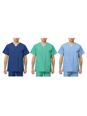 61693b3e5d6 Product Image LEADERTUX Unisex Clinic Physician Medical Doctor Nurse  reversible Uniform Scrub Top XS-3XL