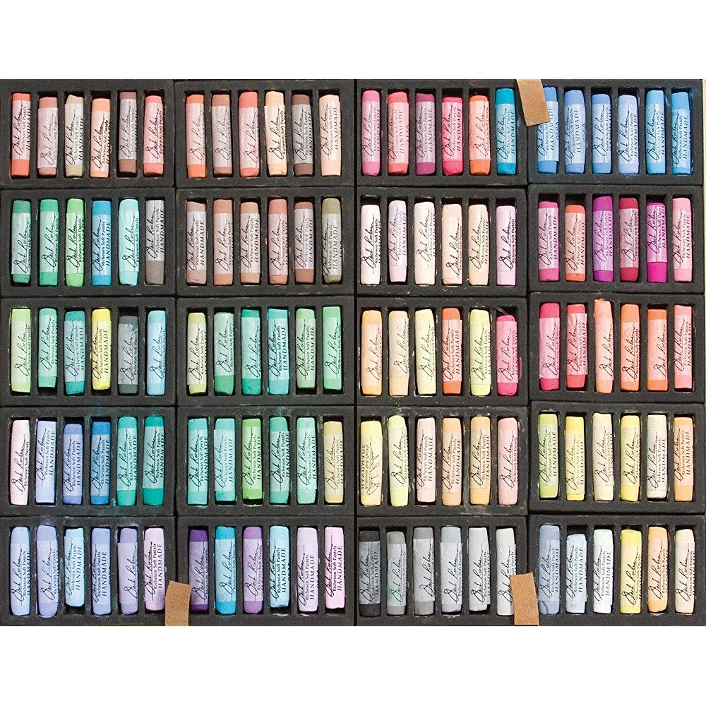 Jack Richeson & Company handmade soft pastels in a wooden box, 120 assorted colors
