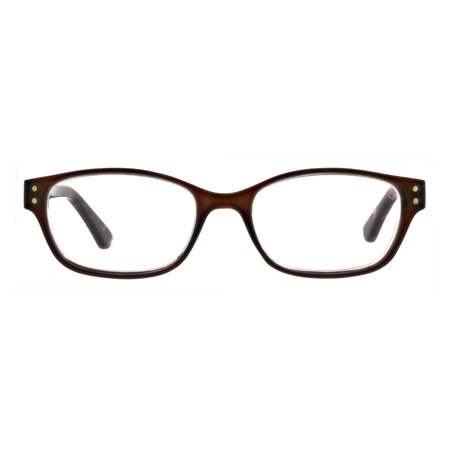 Flower by Drew Barrymore Julia Women's 1.0 Reading Glasses, Brown/Demi