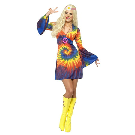 Smiffy's Women's 1960's Tie Dye Dress Costume](Popular Halloween Costumes 1960's)
