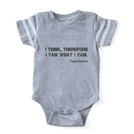 CafePress - FIN Popeye Descartes - Cute Infant Baby Football Bodysuit - Baby Popeye