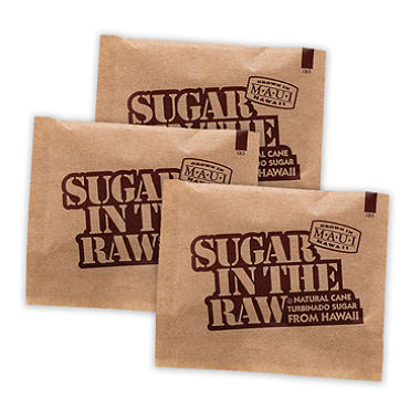 Sugar in the Raw RAWS, 0.17 Oz Turbinado Cane Sugar Packets, 1200/Cs