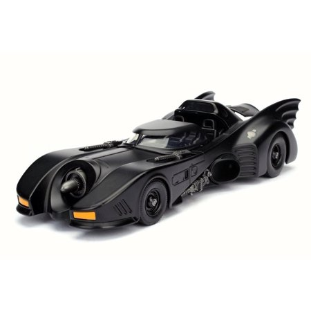 1989 Batman Returns Batmobile, Black - Jada 98263 - 1/24 Scale Diecast Model Toy Car (Brand New but NO