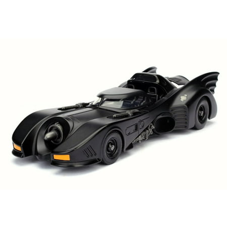 - 1989 Batman Returns Batmobile, Black - Jada 98263 - 1/24 Scale Diecast Model Toy Car (Brand New but NO BOX)