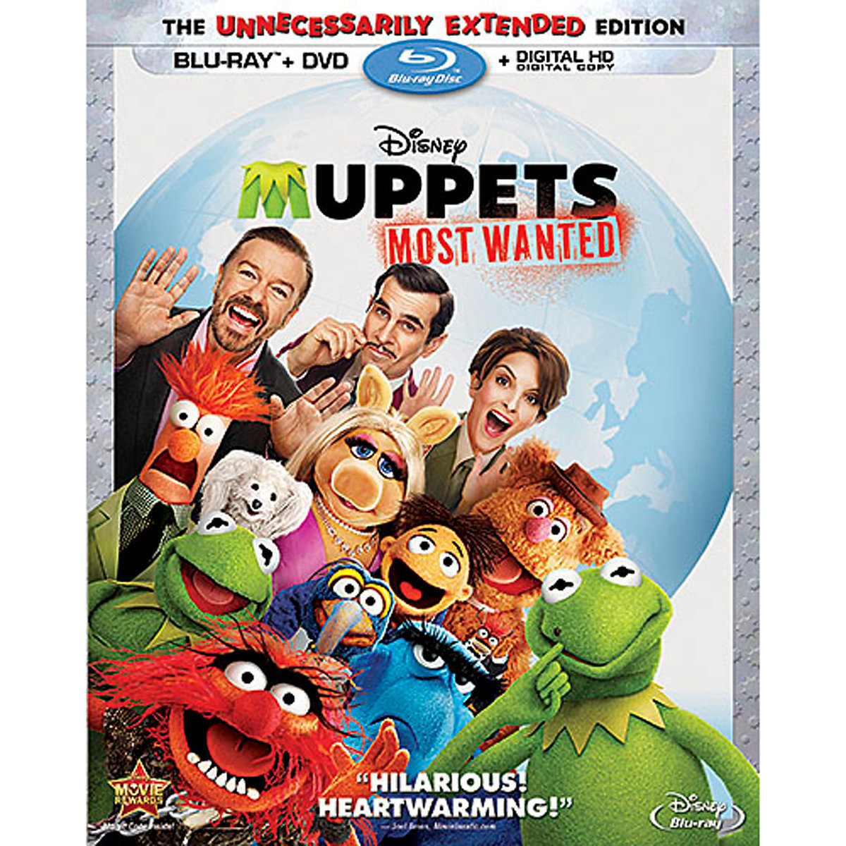 Muppets Most Wanted (The Unnecessarily Extended Edition) (Blu-ray + DVD + Digital HD)