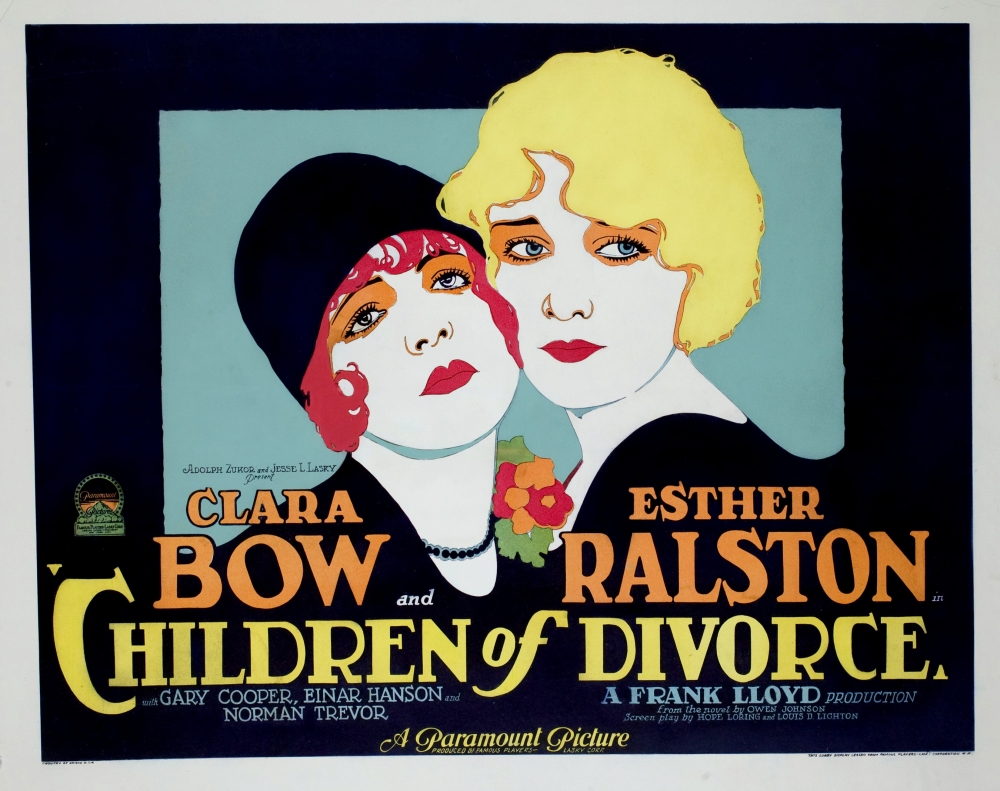 Children Of Divorce Clara Bow Esther Ralston 1927 Movie Poster Masterprint by Everett Collection