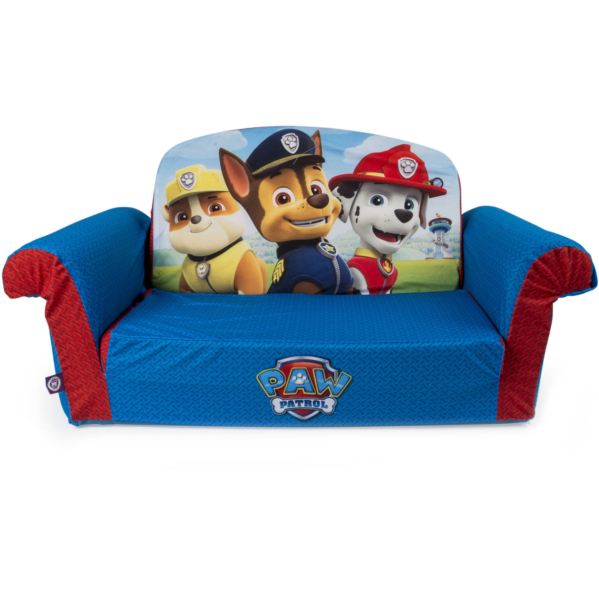 Marshmallow Furniture, Children's 2 in 1 Flip Open Foam Sofa, Nickelodeon Paw Patrol, by... by Marshmallow