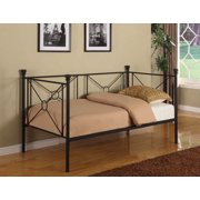twin size black metal day bed frame with headboard footboard rails slats - Day Bed Frames