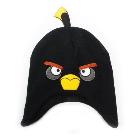 angry birds bomb face youth licensed beanie. Black Bedroom Furniture Sets. Home Design Ideas