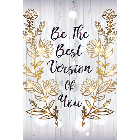 Be The Best Version Of You Motivational Inspirational Wall Decor Home Art Print, Large Signs - (Best Wall Color To Showcase Art)