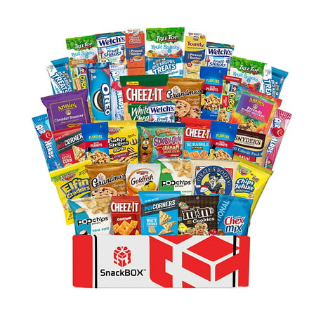 Halloween Soccer Snack Ideas (Care Package Snacks for College Students, Finals, Office, Mothers Day and Gift Ideas - Including Over 3 lbs of Chips, Cookies and Candy! (40)