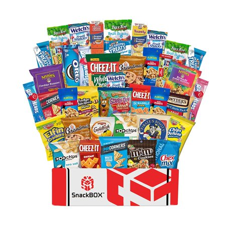 Care Package Snacks for College Students, Finals, Office, Mothers Day and Gift Ideas - Including Over 3 lbs of Chips, Cookies and Candy! (40 Count) - Snack Ideas For Halloween