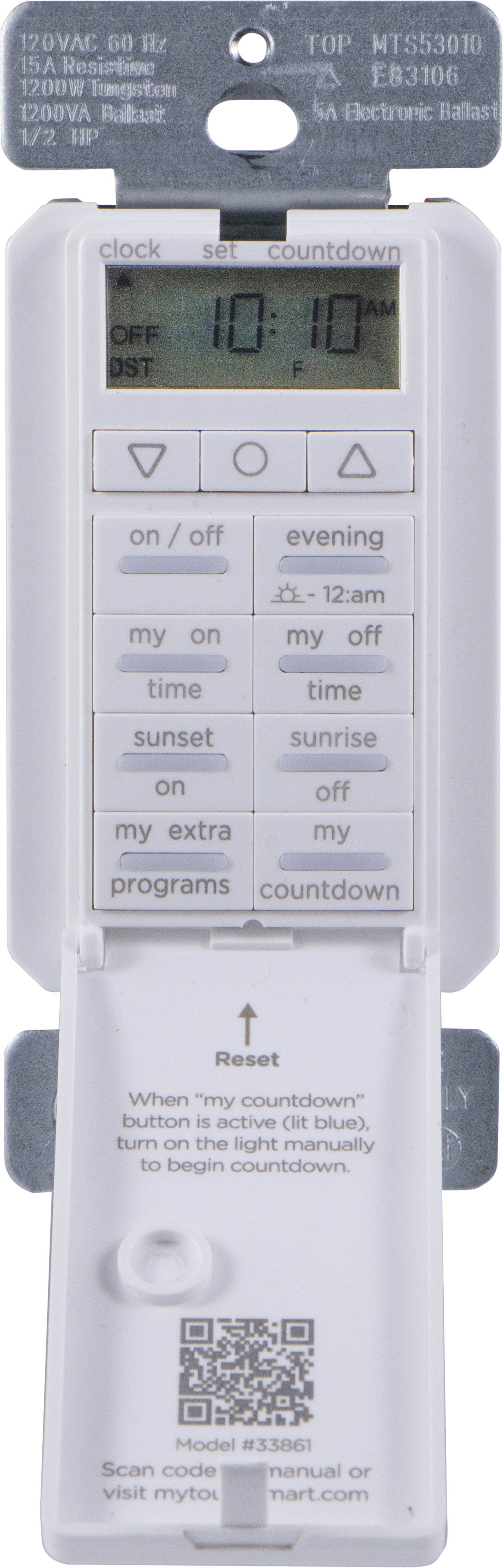 myTouchSmart All-in-One In-Wall Digital Countdown Timer, 33861 by Jasco Products Company, LLC