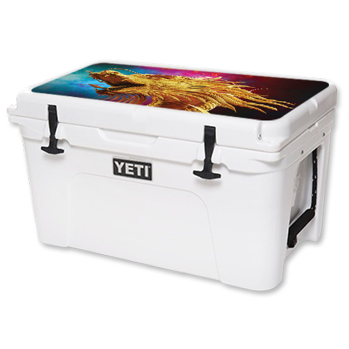 MightySkins Protective Vinyl Skin Decal for YETI Tundra 45 qt Cooler Lid wrap cover sticker skins The Golden Dragon