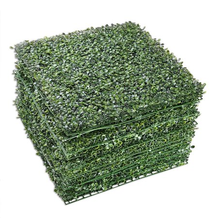 Yescom Artificial Boxwood Hedge Mat with Cable Ties UV Privacy Fence Screen Greenery Panel Outdoor Decor ()