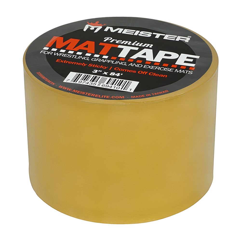 """Meister Premium Mat Tape for Wrestling, Grappling and Exercise Mats - Clear - 3"""" x 84ft - 1 Roll"""