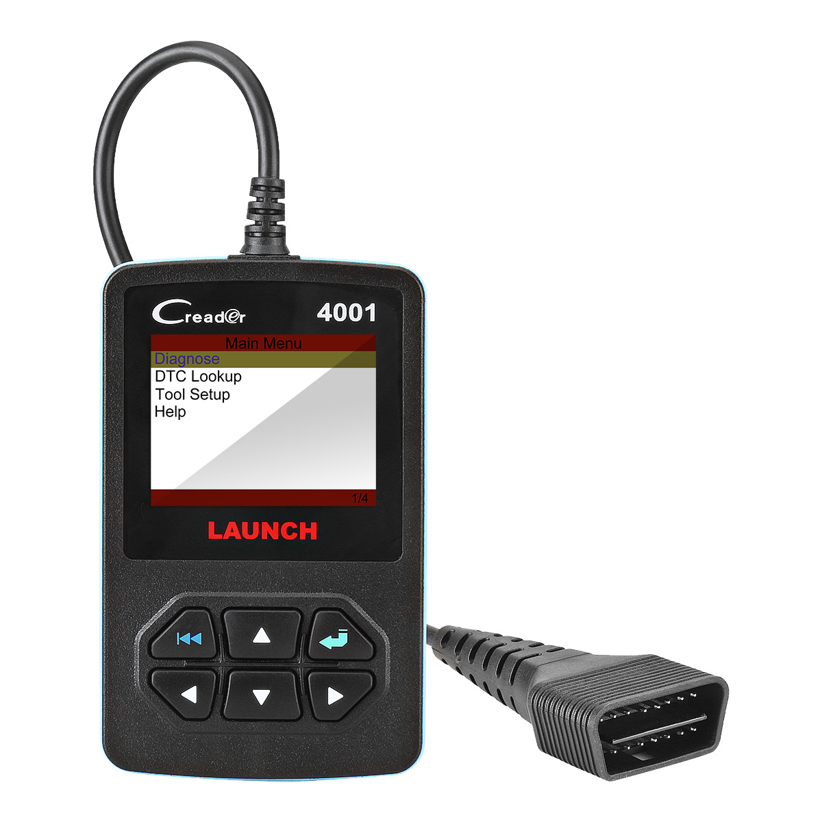 Car Code Reader, Launch CReader 4001 Diagnostic Scan Tool for Check Engine Light & Diagnostics, Support Read and Clear Error Codes, Query DTCs and Support 1-10 Modes