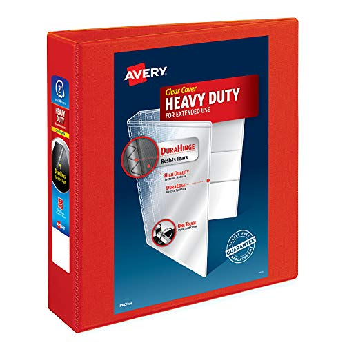 "Avery 2"" Heavy Duty View 3 Ring Binder, One Touch EZD Ring, Holds 8.5"" x 11"" Paper, 1 White Binder (79192) - 2.0"""