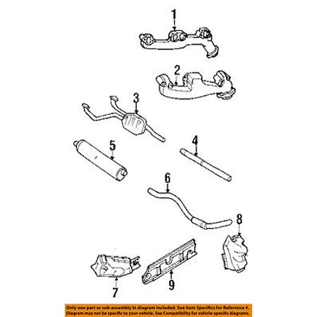 Dodge CHRYSLER OEM 98-01 Ram 1500 3.9L-V6 Exhaust