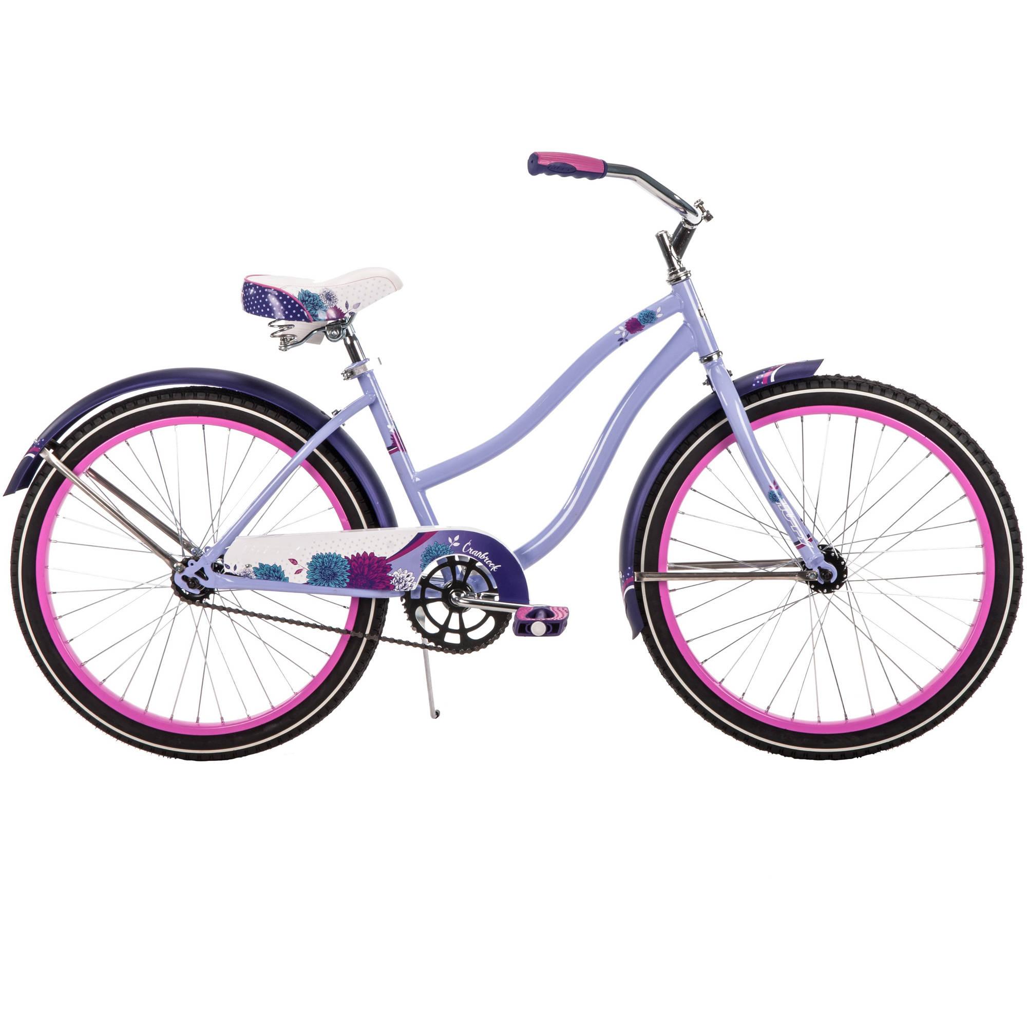 "Huffy 24"" Cranbrook Girls' Cruiser Bike, Lilac Purple"