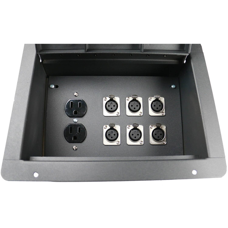 Elite Core Recessed Floor Box with Back Box