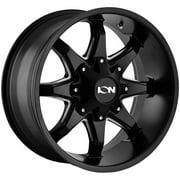 "Ion 181 20x9 5x5.5""/5x150 -12mm Black/Milled Wheel Rim 20"" Inch"