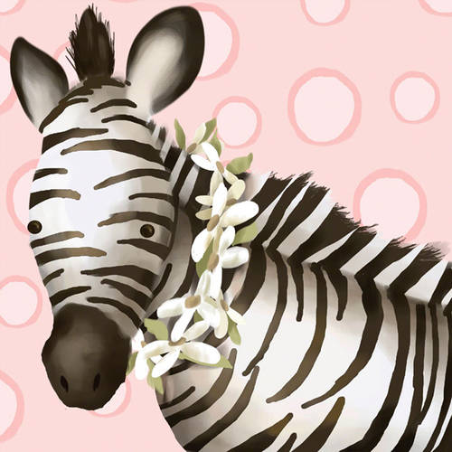 Oopsy Daisy's Zoey the Zebra Canvas Wall Art, Size 10x10
