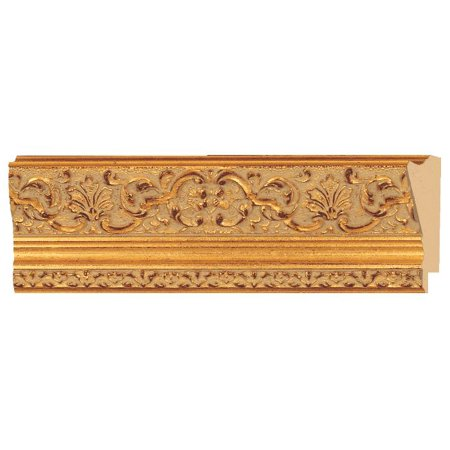 Gold Gesso Picture Frame Molding - Picture Frame Moulding (Wood) - Ornate Gold Finish - 2.5