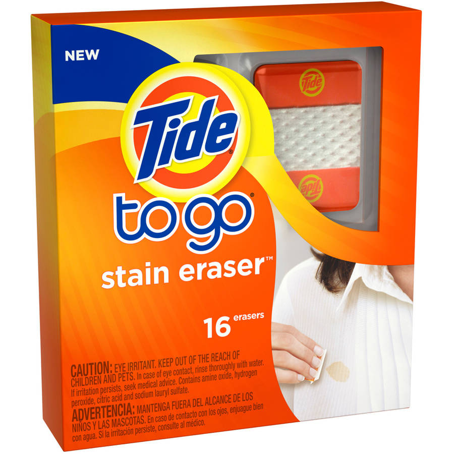 Tide To Go Stain Eraser Stain Remover, 16 count