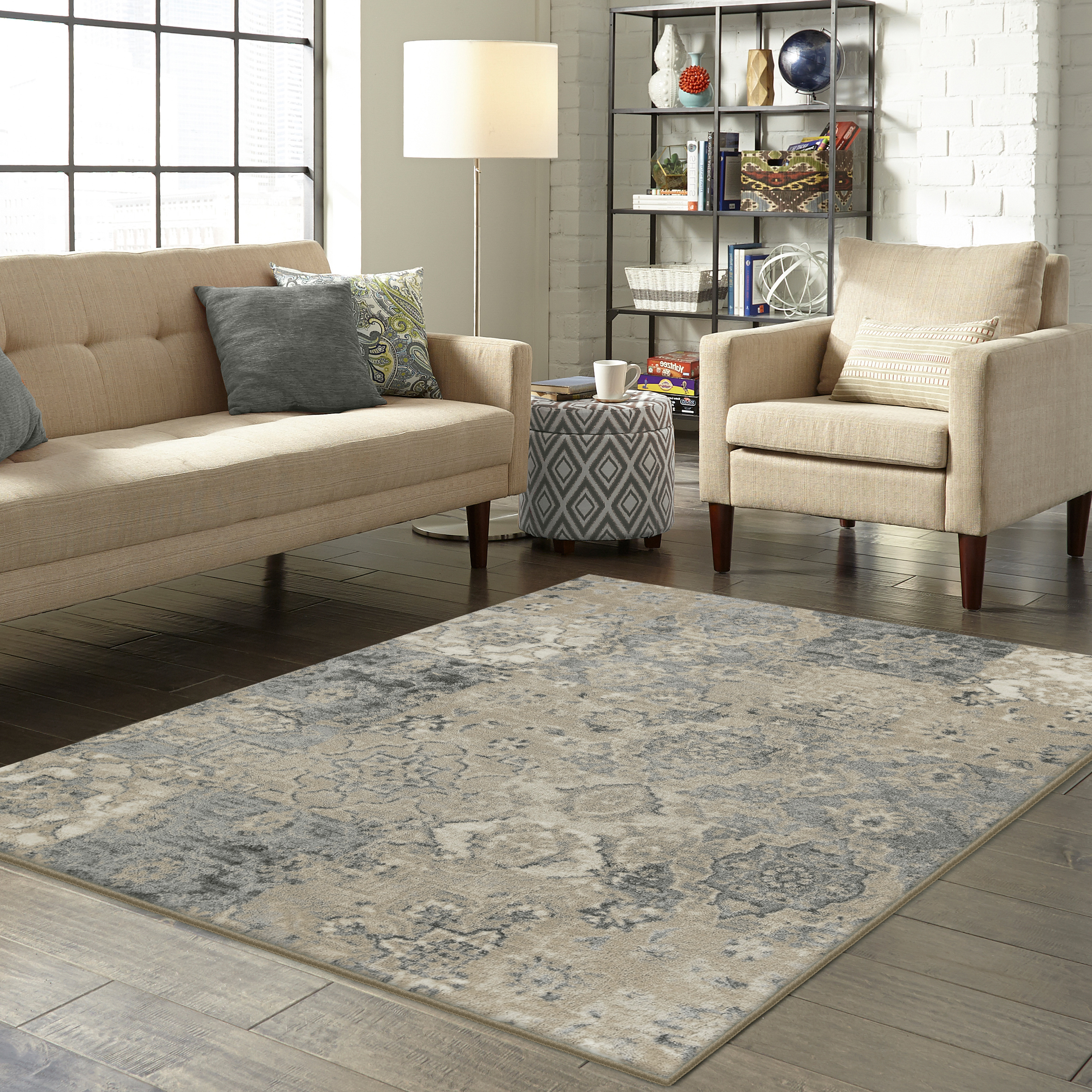 Better Homes and Gardens Distressed Patchwork Area Rug or Runner by Maples Industries, Inc.