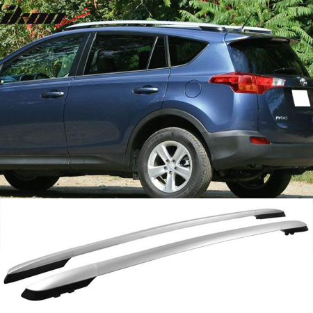 Compatible with 13-17 Toyota RAV4 OE Factory Style Roof Rack - Silver (Rav4 Roof Rack)