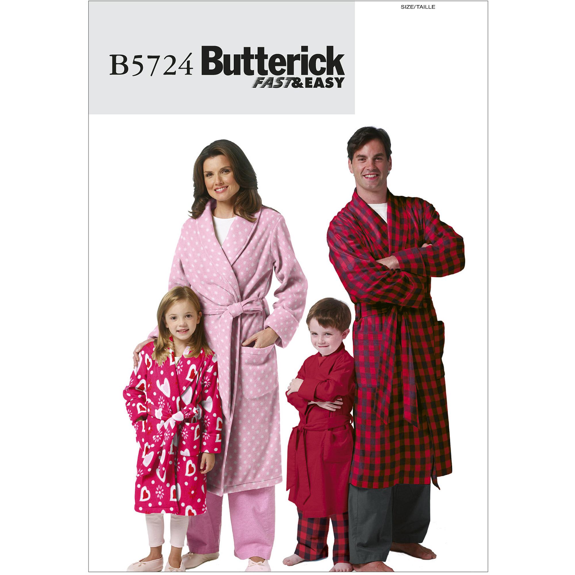 Misses/Mens/Childrens/Boys/Girls Robe and Belt-KID [(3-4) (5-6) (7