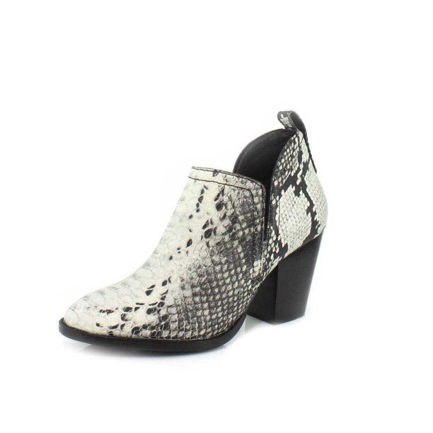 JEFFREY CAMPBELL ROSALEE Boots Black White Snake