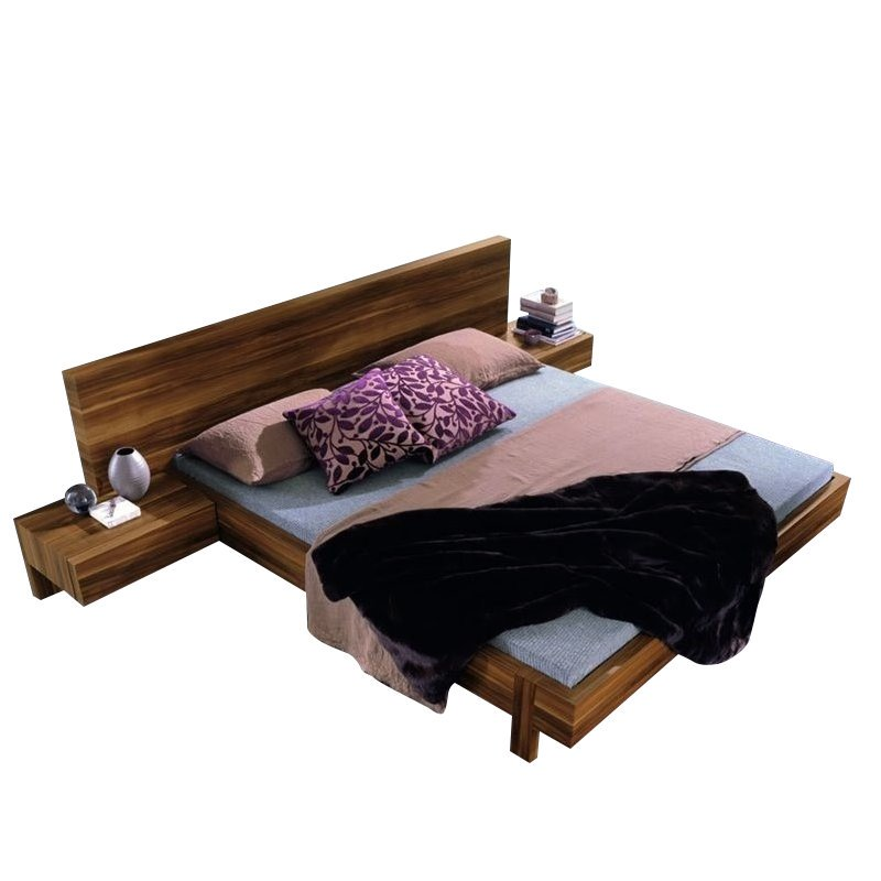 Rossetto Gap Modern Platform Bed in Walnut by Rossetto