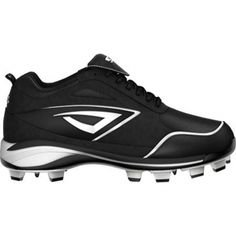 New 3N2 Rookie molded Cleat Black/White Size 2.5 New 3N2 Rookie molded Cleat Black/White Size 2.5