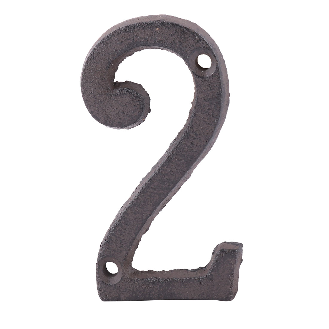 Home Street Cast Iron 2 Shaped Plate Number Door Wall Mounting Entrance Label - image 5 of 5