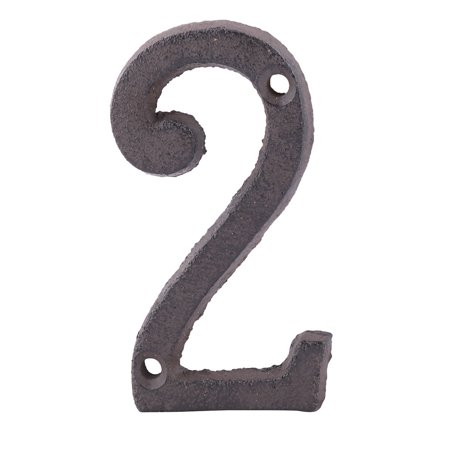 - Unique Bargains Home Street Cast Iron 2 Shaped Plate Number Door Wall Mounting Entrance Label