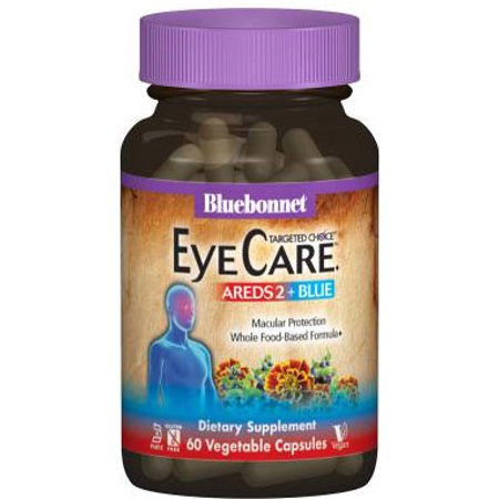 Bluebonnet Kosher Targeted Choice Eye Care AREDS2 + Blue - 60 Vegetable Capsules ()