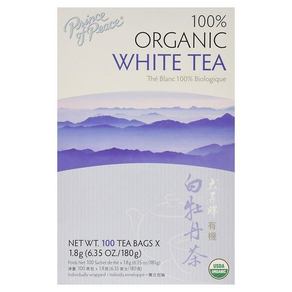 Organic White Tea Prince Of Peace 100 Bag