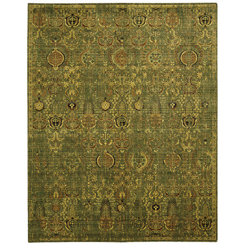 Nourison Timeless Green/Gold Area Rug