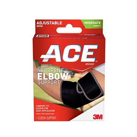 Ace Neoprene Elbow Support Adjustable  Black