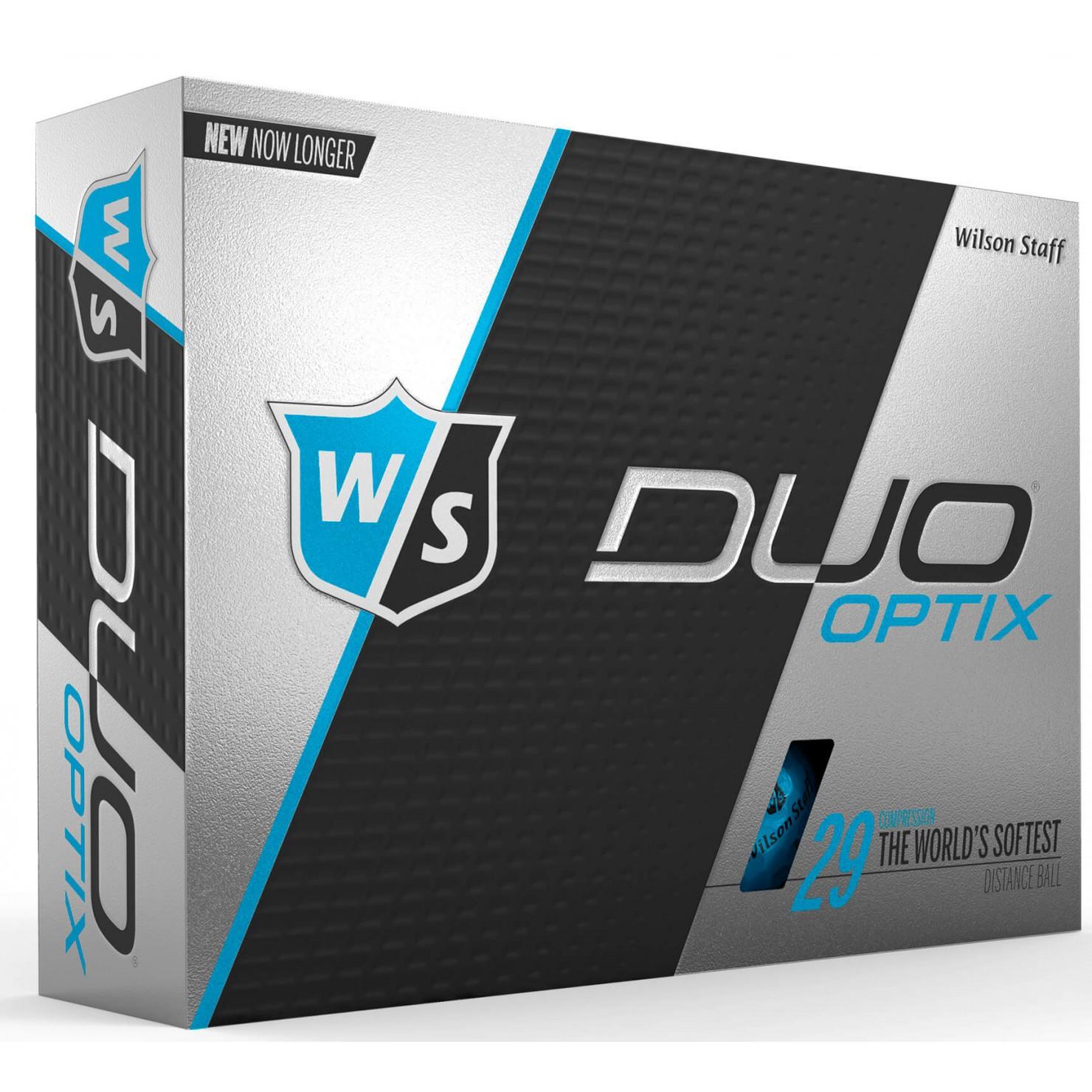 Wilson Duo Soft Optix Golf Balls - Blue