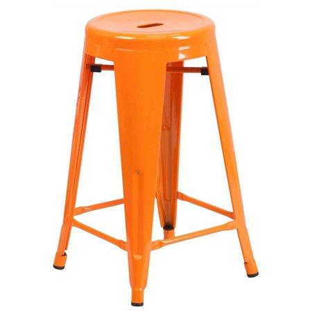 Flash Furniture Carlisle 24 in. Metal Counter Stool