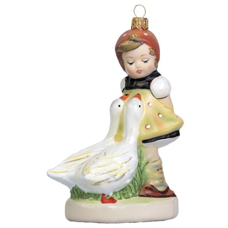 M I Hummel Goose Little Bavarian Polish Gl Christmas Tree Ornament