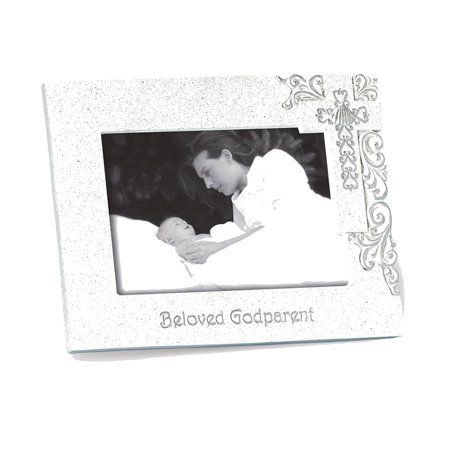 Silver Scroll Resin Godparent 4x6 Photo Frame - Perfect Baptism Gift ...
