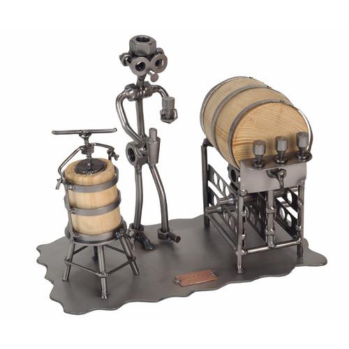 H & K SCULPTURES Taster Sculpture Tabletop Wine Rack
