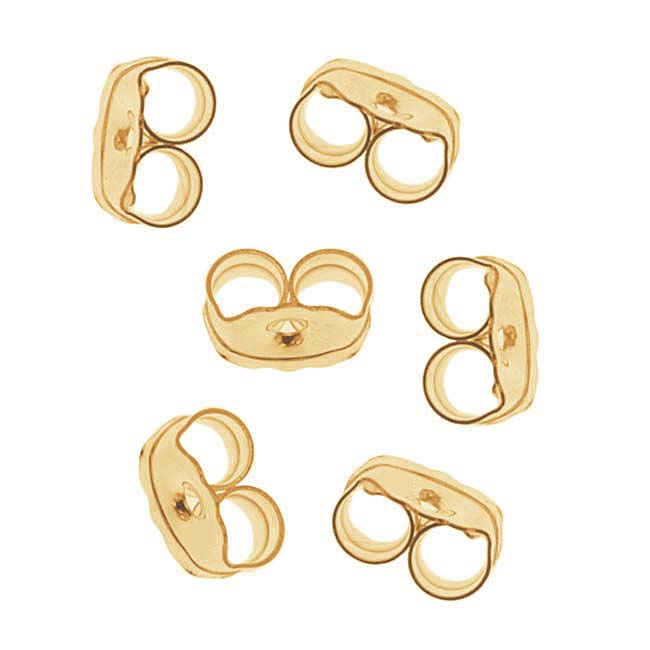 14K Gold Filled Earring Backs - Ear Nuts (3 Pairs)