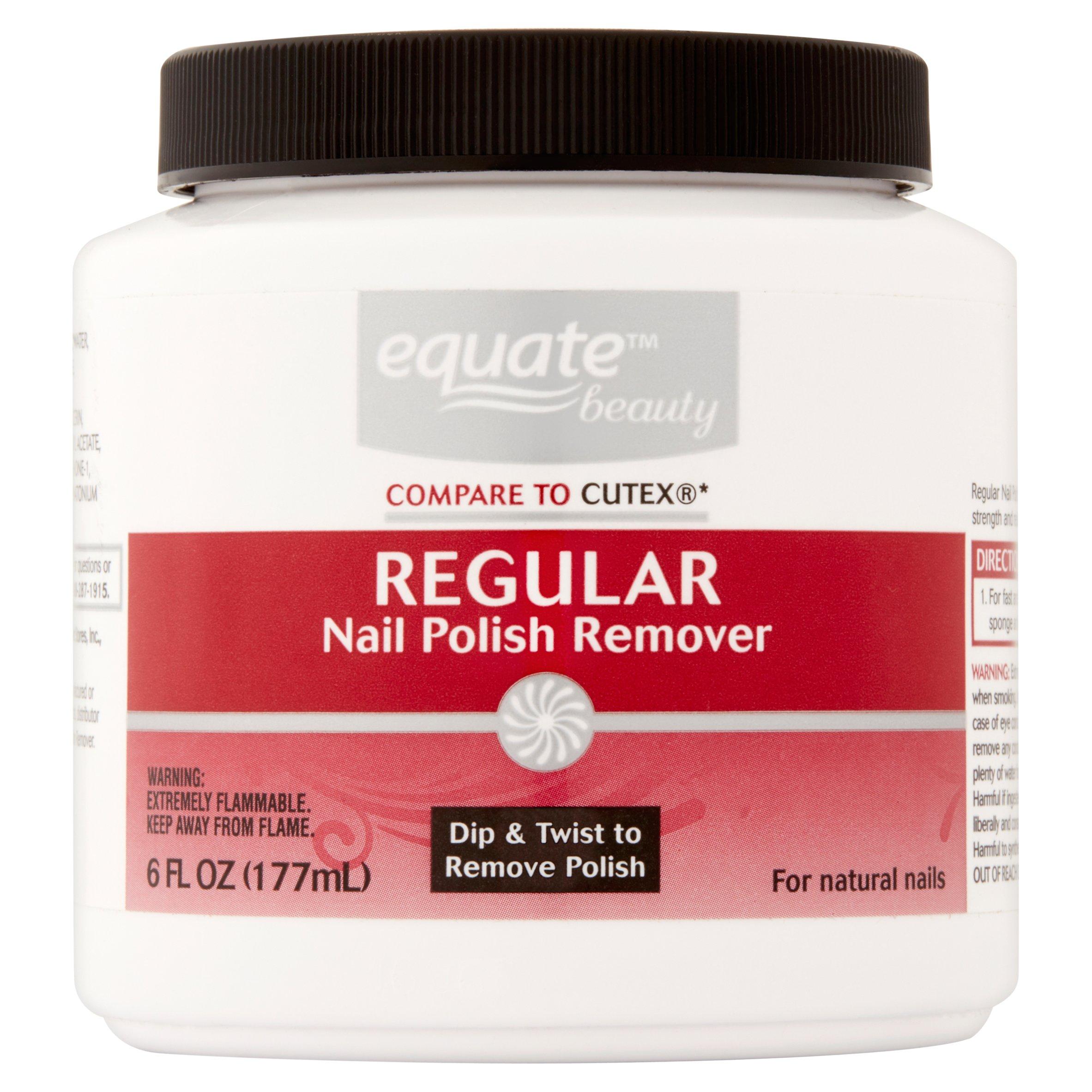 (4 Pack) Equate Beauty Regular Nail Polish Remover, 6 Fl Oz